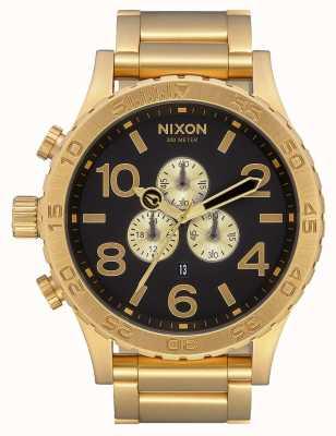 Nixon 51-30 crono | tutto oro / nero | braccialetto ip oro | quadrante nero A083-510-00