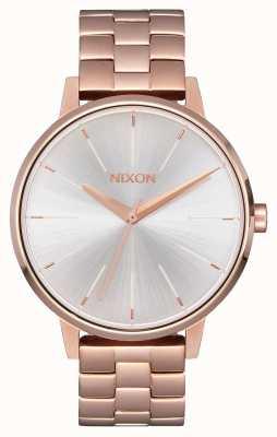 Nixon Kensington | oro rosa / bianco | braccialetto ip oro ross | quadrante argentato A099-1045-00