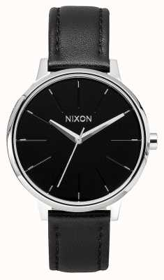 Nixon Pelle Kensington | nero | cinturino in pelle nera | quadrante nero A108-000-00