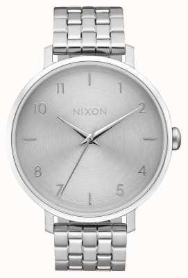 Nixon Freccia | tutto argento | bracciale in acciaio inossidabile | quadrante argentato A1090-1920-00