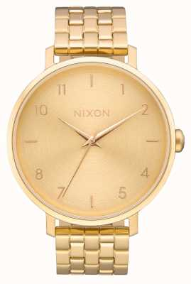 Nixon Freccia | tutto oro | bracciale in acciaio ip oro | quadrante in oro A1090-502-00