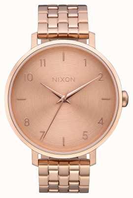 Nixon Freccia | tutto oro rosa | bracciale in acciaio con ip oro rosa | quadrante in oro rosa A1090-897-00