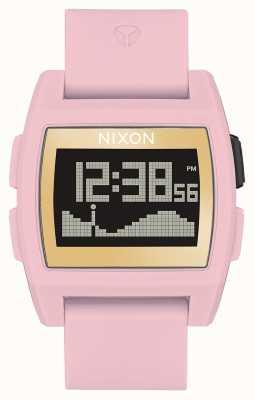 Nixon Marea di base | rosa tenue / oro / sx | digitale | cinturino in silicone rosa A1104-2773-00