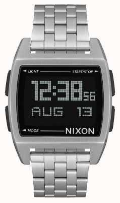 Nixon Base | nero | digitale | bracciale in acciaio inossidabile | A1107-000-00