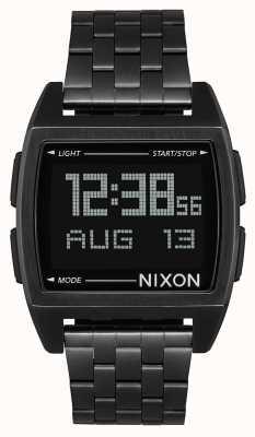 Nixon Base | tutto nero | digitale | bracciale in acciaio ip nero | A1107-001-00