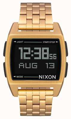 Nixon Base | tutto oro | digitale | bracciale in acciaio ip oro A1107-502-00