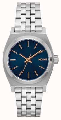 Nixon Cassiere medio | blu navy / oro rosa | bracciale in acciaio inossidabile | quadrante blu marino A1130-2195-00