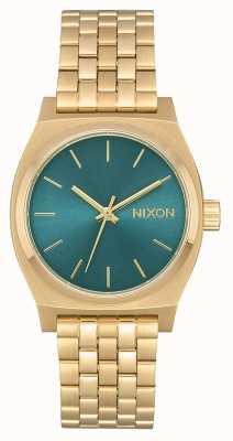 Nixon Cassiere medio | oro chiaro / turchese | bracciale in acciaio ip oro A1130-2626-00