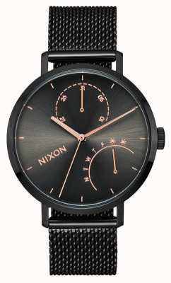 Nixon Frizione | nero / canna di fucile | rete in acciaio ip nero | quadrante nero A1166-1420-00