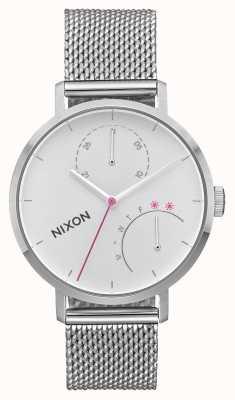 Nixon Frizione | tutto argento | rete in acciaio inossidabile | quadrante bianco A1166-1920-00