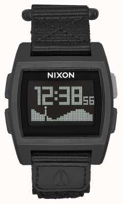 Nixon Nylon di marea di base | tutto nero | digitale | cinturino in nylon nero A1169-001-00