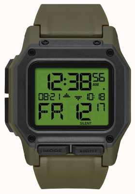 Nixon Regulus | surplus / carbonio | digitale | cinturino in tpu verde A1180-3100-00