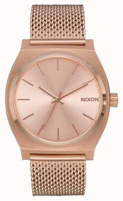 Nixon Time teller milanese | tutto oro rosa | rete ip oro rosa | quadrante in oro rosa A1187-897-00