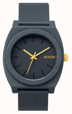Nixon Cassiere del tempo p | grigio acciaio opaco | cinturino in silicone grigio | quadrante grigio A119-1244-00