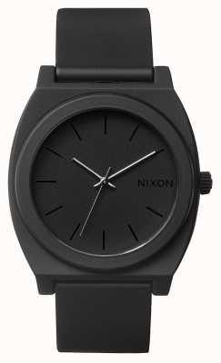 Nixon Time teller p | nero opaco | cinturino in silicone nero | quadrante nero A119-524-00
