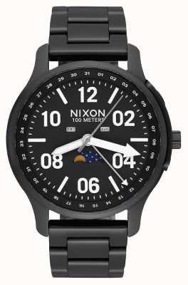 Nixon Ascender | nero / lum | bracciale in acciaio ip nero | quadrante nero A1208-2474-00