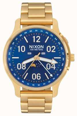 Nixon Ascender | tutto oro / raggio di sole blu | oro ip acciaio | quadrante blu A1208-2735-00