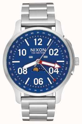 Nixon Ascender | argento / blu | bracciale in acciaio inossidabile | quadrante blu A1208-722-00