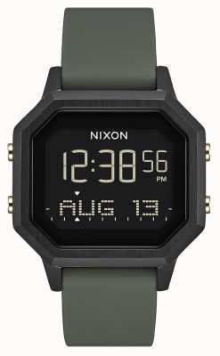 Nixon Sirena ss | nero / fatica | digitale | silicone nero | A1211-178-00