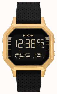 Nixon Sirena ss | oro / nero sx | digitale | cinturino in silicone nero A1211-2970-00