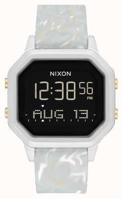 Nixon Sirena ss | marmo argento / grigio | digitale | cinturino in silicone color marmo A1211-3413-00