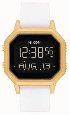 Nixon Sirena ss | oro / bianco | digitale | cinturino in silicone bianco A1211-508-00