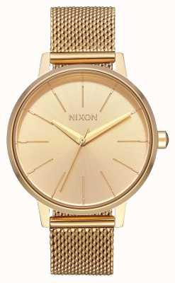 Nixon Kensington milanese | tutto oro | rete in acciaio ip oro | quadrante in oro A1229-502-00
