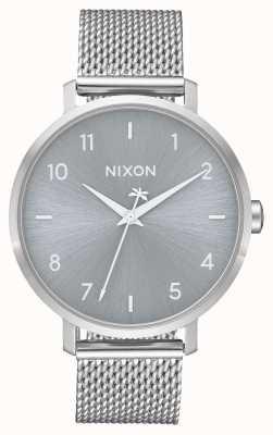 Nixon Arrow milanese | tutto argento | rete in acciaio inossidabile | quadrante argentato A1238-1920-00