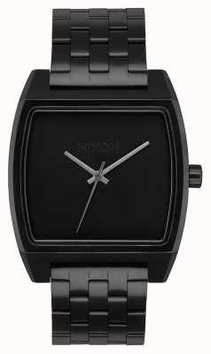 Nixon Tracker del tempo | tutto nero | bracciale in acciaio ip nero | quadrante nero A1245-001-00
