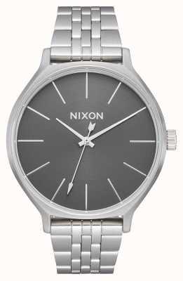 Nixon Clique | tutto argento / grigio | bracciale in acciaio inossidabile | quadrante argentato A1249-2762-00
