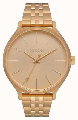 Nixon Clique | tutto oro | bracciale in acciaio ip oro | quadrante in oro A1249-502-00