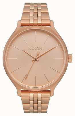 Nixon Clique | tutto oro rosa | bracciale in acciaio con ip oro rosa | quadrante in oro rosa A1249-897-00