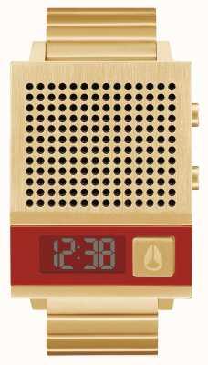 Nixon Anche Dork | tutto oro | digitale | bracciale in acciaio ip oro | parlando A1266-502-00