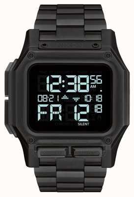 Nixon Regulus ss | tutto nero | digitale | bracciale in acciaio ip nero A1268-001-00