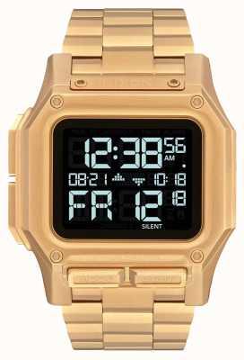 Nixon Regulus ss | tutto oro | digitale | bracciale in acciaio ip oro | A1268-502-00