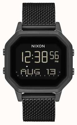 Nixon Sirena milanese | tutto nero | digitale | rete in acciaio ip nero | A1272-001-00