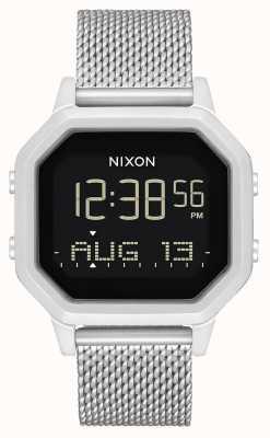 Nixon Sirena milanese | tutto argento | digitale | bracciale in maglia di acciaio inossidabile A1272-1920-00