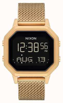 Nixon Sirena milanese | tutto oro | digitale | bracciale a maglie in acciaio ip oro A1272-502-00