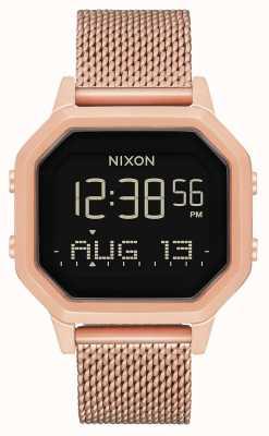 Nixon Sirena milanese | tutto oro rosa | digitale | rete in acciaio ip oro rosa | A1272-897-00