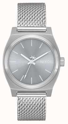 Nixon Cassiere medio tempo milanese | tutto argento | rete in acciaio inox | quadrante argentato A1290-1920-00