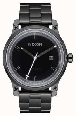 Nixon 5 ° elemento | nero / canna di fucile | bracciale in acciaio ip nero A1294-1420-00
