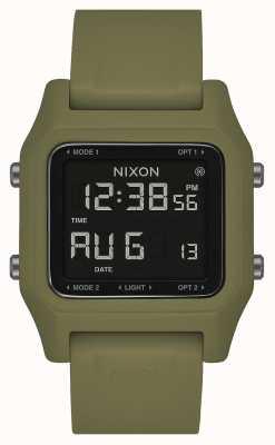 Nixon Staple | oliva | digitale | cinturino in silicone verde oliva A1309-333-00