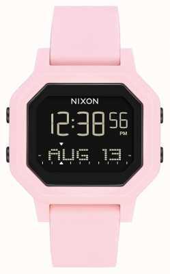 Nixon Sirena | rosa pallido | digitale | cinturino in silicone rosa A1311-3154-00
