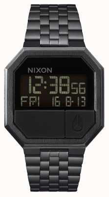 Nixon Riesegui | tutto nero | digitale | bracciale in acciaio ip nero A158-001-00