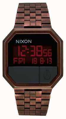 Nixon Riesegui | rame antico | digitale | bracciale in acciaio ip color rame A158-894-00