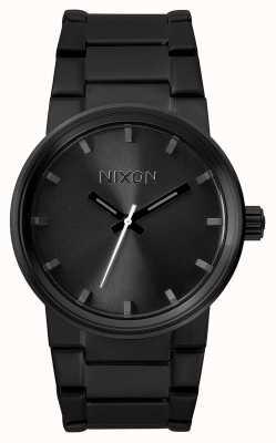 Nixon Cannone | tutto nero | bracciale in acciaio ip nero | quadrante nero A160-001-00
