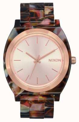 Nixon Time teller acetato | oro rosa / tartaruga rosa | quadrante in oro rosa A327-3233-00
