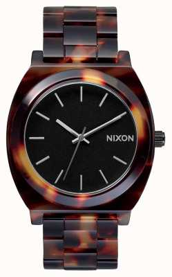 Nixon Time teller acetato | tartaruga | quadrante nero A327-646-00
