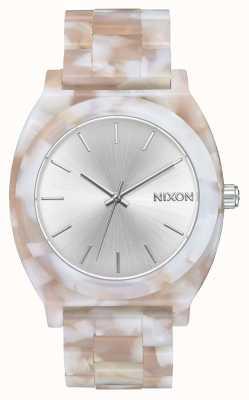 Nixon Time teller acetato | rosa / argento | quadrante argentato A327-718-00