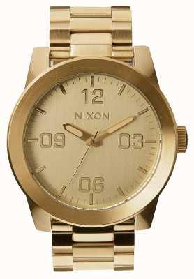 Nixon Caporale ss | tutto oro | bracciale in acciaio ip oro | quadrante in oro A346-502-00